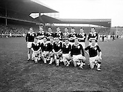 All Ireland Senior Football Championship Final, Dublin v Galway, 22.09.1963, 09.23.1963, 22nd September 1963, Dublin 1-9 Galway 0-10,..The Galway Team defeated by Dublin.Back Row Left to right S Leyden, M McDonagh, N Tierney, M MacReynolds, M Moore, M Newell, E Colleran and S Meade,.Front Row Left to Right C Dunne, J Keenan,  B Geraghty, M Garrett Captain, S B McDermott, P Donnellan, S Donnellan, .