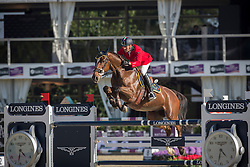 Moneta Luca Maria (ITA) - Neptune Brecourt<br /> Final First Competition<br /> Furusiyya FEI Nations Cup™ Final - Barcelona 2014<br /> © Dirk Caremans
