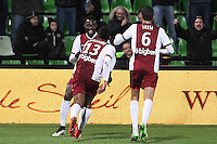 Joie Metz - Modibo MAIGAC - 04.04.2015 - Metz / Toulouse - 31eme journee de Ligue 1 <br />