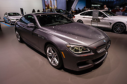 NEW YORK, USA - MARCH 23, 2016: BMW 650i on display during the New York International Auto Show at the Jacob Javits Center.