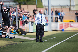 Forfar Athletic's manager Gary Bollan. half time : Forfar Athletic 1 v 3 Annan Athletic, Scottish Football League Division Two game played 6/5/2017 at Station Park.