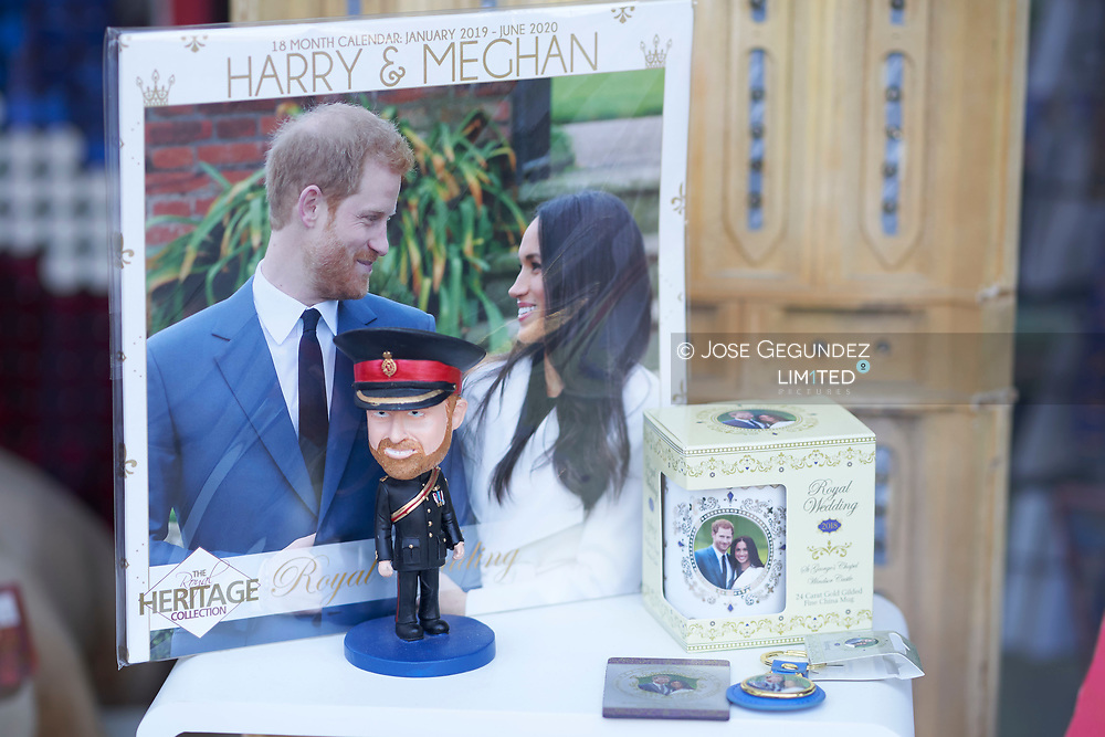 Merchandising of Prince Harry and Meghan Markle at the London Stores before the Royal Wedding of Prince Harry and Meghan Markle on May 18, 2018 in London, , United Kingdom