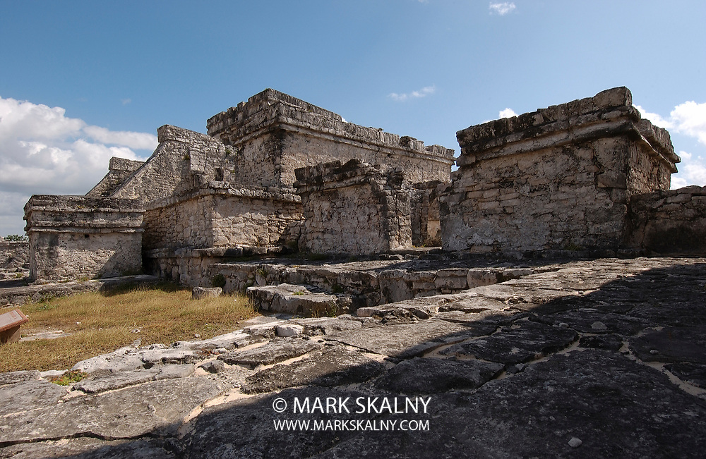 Ancient Mayan cities like Tulum, The City of Dawn, in Mexico were built with mud, limestone, stone, wood, and thatch.