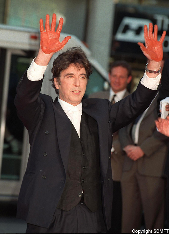 10/16/1997 Al Pacino's hand/footprint ceremony at Grauman's Chinese Theater