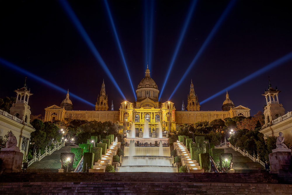 The Museu Nacional d'Art de Catalunya, abbreviated as MNAC, is the national museum of Catalan visual art located in Barcelona, Catalonia, Spain. Situated on Montjuïc hill, the museum is especially notable for its outstanding collection of romanesque church paintings, and for Catalan art and design from the late 19th and early 20th centuries, including modernisme and noucentisme.