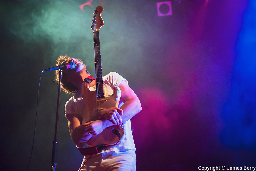 Albert Hammond Jr (guitarist with The Strokes) performs a solo show live with his band at Islington Assembly Hall, London, on Wednesday 25 November 2015.