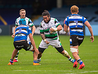 Newcastle Falcons Logovi'i Mulipola in action during todays match<br /> <br /> Photographer Bob Bradford/CameraSport<br /> <br /> Gallagher Premiership Round 1 - Bath Rugby v Newcastle Falcons - Saturday 21st November 2020 - The Recreation Ground - Bath<br /> <br /> World Copyright © 2020 CameraSport. All rights reserved. 43 Linden Ave. Countesthorpe. Leicester. England. LE8 5PG - Tel: +44 (0) 116 277 4147 - admin@camerasport.com - www.camerasport.com