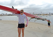 """San Diego, California. USA.  USA Double Olympian Gold Medalist,  Zsuzsanna """"Susan"""" FRANCIA, in  her role as  Women's Varsity coach at the San Diego Rowing Club. Mission Bay.  15:53:44.  Thursday  11/04/2013   [Mandatory Credit. Peter Spurrier/Intersport Images] .."""
