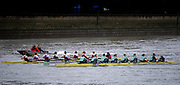 Putney, Great Britain, 3rd March 2019, Pre Boat Race Fixture, Cambridge University Women's Boat Club vs Oxford Brookes, Championship Course, River Thames,   England, [Mandatory Credit; Peter Spurrier/Intersport-images], CUWBC crew, Liliane Lindsay (Pembroke), Ida Gortz Jacobsen (Newnham), Pippa Whittaker (Christ's), Katherine Horvat (Jesus), Larkin Sayre (Emmanuel), Laura Foster (Queens'), Sophie Deans (Murray Edwards)<br /> Tricia Smith (Christ's), Cox: Hugh Spaughton (Jesus).