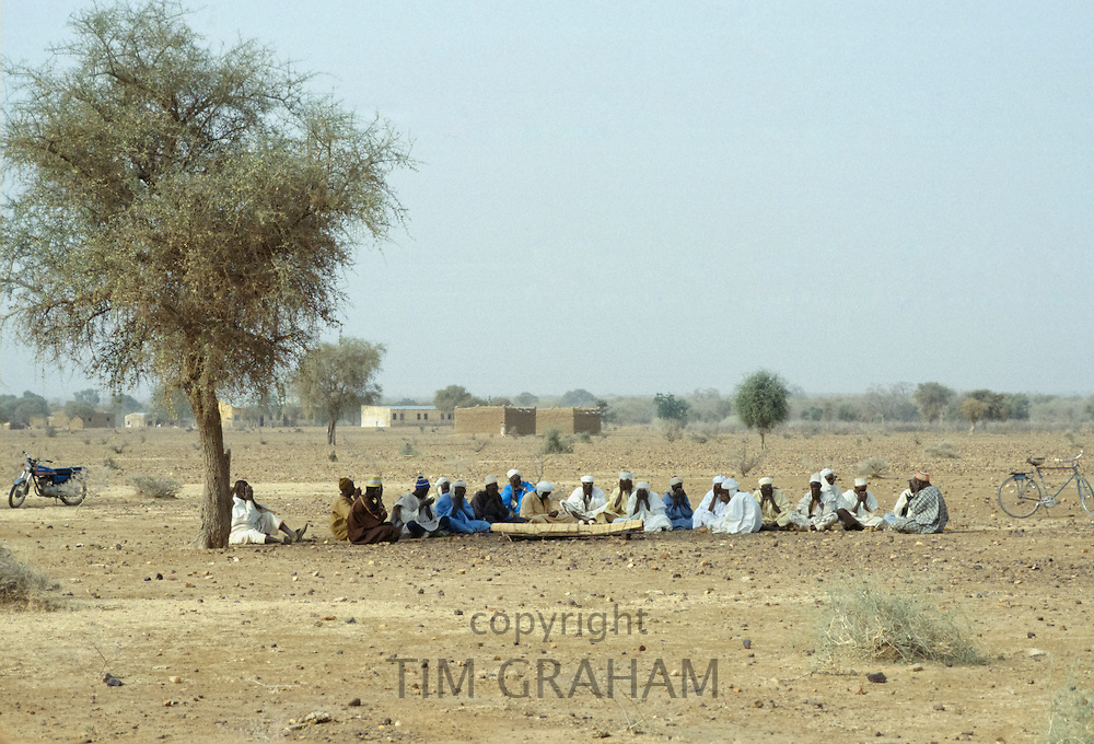 Funeral in the Sahara Desert in Burkina Faso, formerly Upper Volta