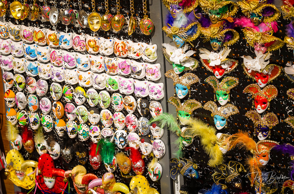 Souvenirs for sale in St. Mark's Square, Venice, Veneto, Italy