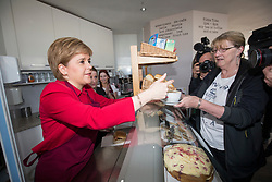 First Minister Nicola Sturgeon joined the SNP's candidate for East Lothian George Kerevan in the Cafe on the Corner, Musselburgh.