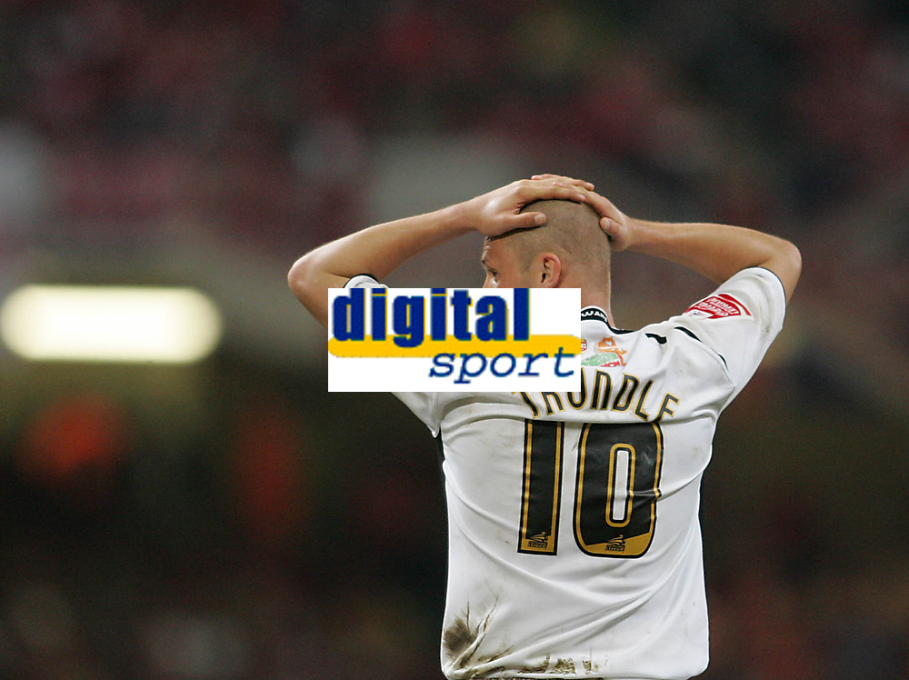 Photo: Lee Earle.<br /> Barnsley v Swansea City. Coca Cola League 1. Play off Final. 27/05/2006. Swansea's Lee Trundle looks dejected after failing to score when clear on goal late in extra time.