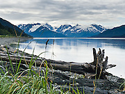 From from the Seward Highway near Anchorage, see the Kenai Mountains and Turnagain Arm (a branch of Cook Inlet), which has 37-foot tides (second in height only to tides in the Bay of Fundy, Nova Scotia, Canada).