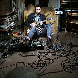 LA FRETTE-SUR-SEINE, FRANCE. JANUARY 12, 2012. Pop Rock singer Charlie Winston at the Frette Studio (on the outskirts of Paris), while recording an EP. Photo: Antoine Doyen