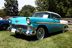 01 August 2015:  1956 Chevrolet Belair - Chet & Barb Sears<br /> <br /> Displayed at the McLean County Antique Automobile Association Car show at David Davis Mansion in Bloomington Illinois