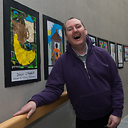 05/03/2019<br /> Pictured is award winner Donall O'Farrell from Brothers of Charity Fairgreen, alongside his poster.<br /> <br /> Fairtrade worker Sara Montoya, from a Fairtrade Coffee Co-op in Colombia was the special guest in Limerick City and County Council chamber today at an event to coincide with Fairtrade Fortnight.<br />  <br /> Sara joined Fairtrade supporters from across Limerick and Ireland for the annual initiative, which features a programme of talks and community events aimed at promoting awareness of Fairtrade and Fairtrade-certified products.<br />  <br /> Speaking at the event in Dooradoyle, Sara outlined the success and benefits of the Fairtrade movement in Colombia and how important it is for people in the developed world think of Fairtrade products when shopping.<br />  <br /> This year's campaign 'Create Fairtrade' invites us all to use our imagination and create fairtrade in our lives.<br />  <br /> Young people from across Limerick city and county were also a focus of the event as they displayed their posters, which they created to help change the way people think about trade and the products on our shelves.<br /> Photo by Diarmuid Greene