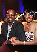 """Vehicle Designer Earl Lucas and wife at """" Lincoln After Dark """" sponsored by Lincoln Motors and hosted by Idris Elba and Steve Harvey and music by Biz Markie during the 2009 Essence Music Festival and held at The Contemporary Arts Center in New Orleans on July 4, 2009"""
