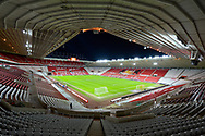 General view inside the Stadium of Light, Sunderland, England before the EFL Sky Bet League 1 match between AFC Sunderland and Hull City on 9 January 2021.