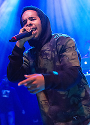 "© Licensed to London News Pictures. 03/06/2015. London, UK.   Earl Sweatshirt performing live at Shepherds Bush Empire.   Earl Sweatshirt, real name Thebe Neruda Kgositsile, is an American rapper-producer and former member of the Los Angeles-based hip hop collective Odd Future.  He released highly acclaimed second album in March 2015 – ""I Don't Like Shit, I Don't Go Outside: An Album By Earl Sweatshirt"" – with 4 & 5 star reviews across publications including the Observer, Mojo, The Guardian, Spin, and others.  Photo credit : Richard Isaac/LNP"