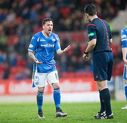 St Johnstone's Danny Swanson. <br /> St Johnstone 3 v 4Aberdeen, SPFL Ladbrokes Premiership played 6/2/2016 at McDiarmid Park, Perth.