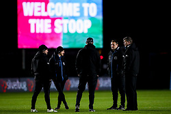 Exeter Chiefs director of rugby Rob Baxter and his coaching staff arrive at The Twickenham Stoop for the Gallagher Premiership fixture against Harlequins - Mandatory by-line: Robbie Stephenson/JMP - 20/11/2020 - RUGBY - Twickenham Stoop - London, England - Harlequins v Exeter Chiefs - Gallagher Premiership Rugby