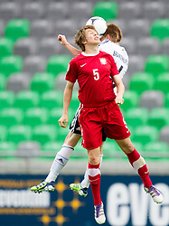 Igor Lasicki of Poland vs Nico Brandenburger of Germany during the UEFA European Under-17 Championship Semifinal match between Germany and Poland on May 13, 2012 in SRC Stozice, Ljubljana, Slovenia. Germany defeated Poland 1-0 and qualified to finals. (Photo by Vid Ponikvar / Sportida.com)