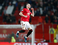 Scott McTominay of Manchester United celebrates scoring the second goal  during the Premier League match at Old Trafford, Manchester. Picture date: 8th March 2020. Picture credit should read: Darren Staples/Sportimage