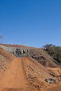 Uberlandia _ MG, Brasil..Construcao de uma Pequena Usina Hidreletrica (PCH) em Uberlandia...The construction of a small hydroelectric plant in Uberlandia.. .Foto: BRUNO MAGALHAES / NITRO