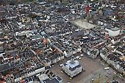 Nederland, Limburg, Maastricht, 15-11-2010;.Het stadhuis op de Markt in het centrum van Maastricht. Vrijthof met Sint Servaasbasiliek en de rode toren van de Sint Janskerk,.luchtfoto (toeslag), aerial photo (additional fee required).foto/photo Siebe Swart