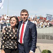 NLD/Terneuzen/20190831 - Start viering 75 jaar vrijheid, Gerdi Verbeet en Paul Blokhuis