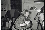 Sasha Nott and Ollie Daniels. April ball, Campden Palace. April 1982.