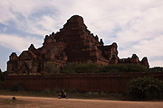 Shwezigon Pagoda, Bagan is one of the biggest tourist atractions in Myanmar because of its more than two thousand temples, in Burma.<br /> Note: These images are not distributed or sold in Portugal