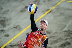 Robert Meeuwsen in action during the third day of the beach volleyball event King of the Court at Jaarbeursplein on September 11, 2020 in Utrecht.