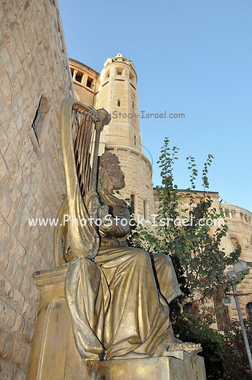 Israel, Jerusalem, Mount Zion, KIng David's sculpture by Alexander Dyomin