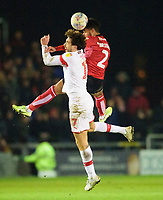 Lincoln City's Liam Bridcutt battles with Rotherham United's Matt Crooks<br /> <br /> Photographer Andrew Vaughan/CameraSport<br /> <br /> The EFL Sky Bet League One - Lincoln City v Rotherham United - Friday 7th February 2020 - LNER Stadium - Lincoln<br /> <br /> World Copyright © 2020 CameraSport. All rights reserved. 43 Linden Ave. Countesthorpe. Leicester. England. LE8 5PG - Tel: +44 (0) 116 277 4147 - admin@camerasport.com - www.camerasport.com