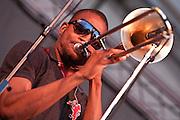 Trombone Shorty & Orleans Avenue at the Appel Farms Arts & Music Festival, Elmer, NJ 6/4/11