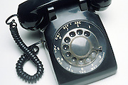 close up of a rotary phone