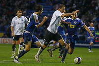 Photo: Steve Bond/Sportsbeat Images.<br />Leicester City v West Bromwich Albion. Coca Cola Championship. 08/12/2007. Roman Bednar (centre R) tries to burst through the Leicester defence
