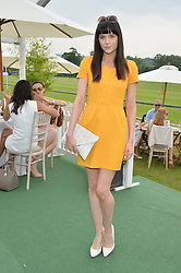 LILAH PARSONS at the St.Regis International Polo Cup at Cowdray Park, Midhurst, West Sussex on 17th May 2014.