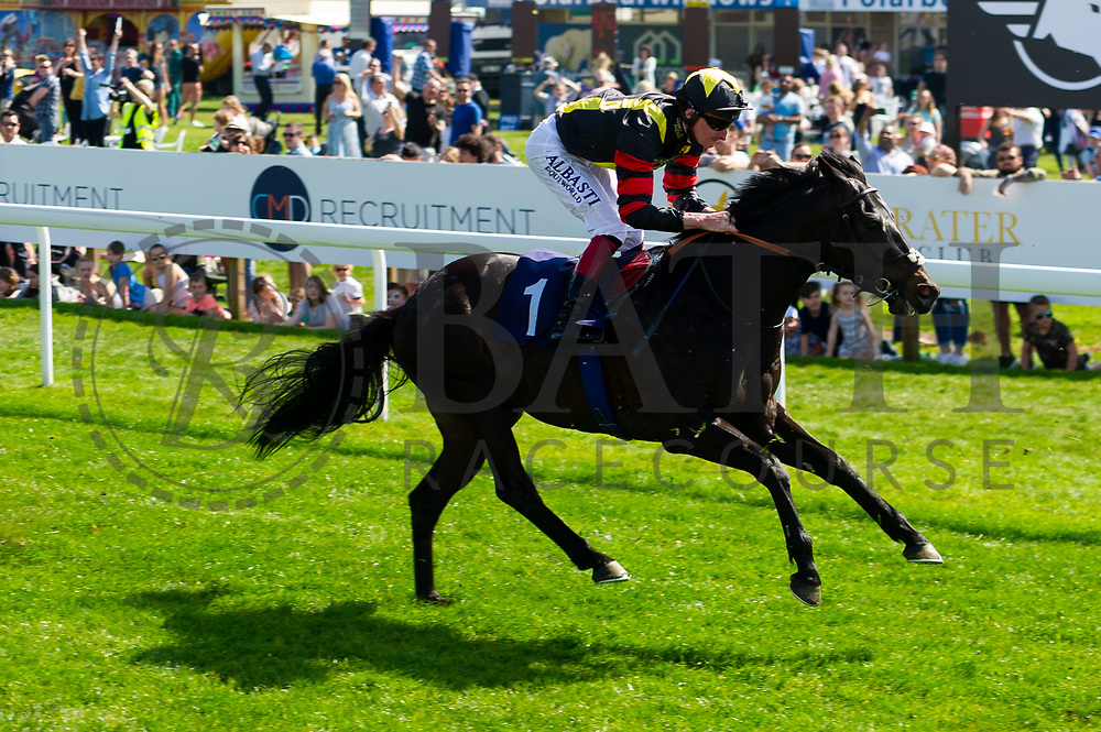 Global Prospector ridden by Adam Kirby  - Ryan Hiscott/JMP - 19/04/2019 - PR - Bath Racecourse- Bath, England - Race 1 - Good Friday Race Meeting at Bath Racecourse