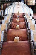 silicone bung on barrel barrel aging cellar dom g robin crozes hermitage rhone france