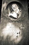Headstone on Étienne Renaud Augustin Serres grave, Père Lachaise Cemetery, Paris, France