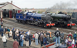 © under license to London News Pictures. 02/04/2011. The King Edward II steam locomotive is revealed to the public in it's full glory today (02/04/2011) at the Railway Centre in Didcot, Oxfordshire, England. A group of volunteer workers have spent the last 20 years working on restoring the heavy express steam locomotive to full working order. The splendid machine first introduced in the 1920's spent many years rotting at Barry Scrapyard in Wales after performing over 1,500,000 miles of service pulling trains between London Paddington and the West of England for Great Western Railway. Photo credit should read: London News Pictures