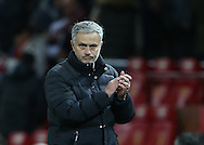 Jose Mourinho manager of Manchester United during the English Premier League match at Old Trafford Stadium, Manchester. Picture date: December 11th, 2016. Pic Simon Bellis/Sportimage