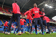 Crystal Palace players warming up before the Premier League match between Crystal Palace and Chelsea at Selhurst Park, London, England on 30 December 2018.
