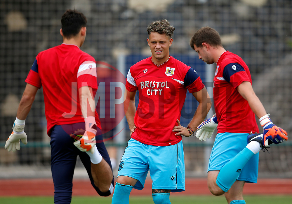 Bristol City goalkeepers Max O'Leary, Ivan Lucic and Frank Fielding warm up - Mandatory by-line: Matt McNulty/JMP - 22/07/2017 - FOOTBALL - Tenerife Top Training - Costa Adeje, Tenerife - Bristol City v Atletico Union Guimar  - Pre-Season Friendly