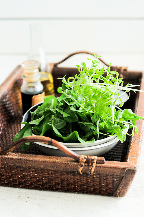 Mixed Baby Greens with Balsamic and Olive Oil