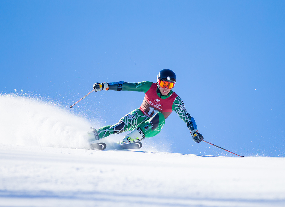 Dylan Brooks of Dartmouth College, skis during the second run of the Men's Giant Slalom at the NCAA Division I Skiing Championships on March 12, 2015 in Wilmington, NY. (Dustin Satloff/Colby College Athletics)