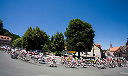Peloton in Skofja Loka at 2nd stage of Tour de Slovenie 2009 from Kamnik to Ljubljana, 146 km, on June 19 2009, Slovenia. (Photo by Vid Ponikvar / Sportida)